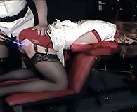Kirsty gets bent over and has her ass spanked nice and hard