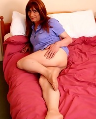 Lucimay reads some vintage porn and then masturbates her big cock