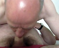 Two mature Pantieboyz having some fun with each others hard cocks.