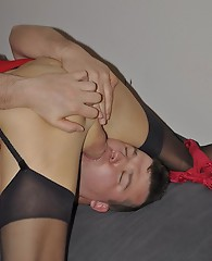 Sissy and TGirl suck each others hard cocks.