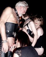 Filthy crossdressing sluts have some hardcore bondage action together in the dungeon