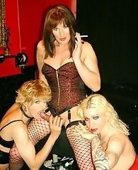 Horny crossdressing slut and her naughty friends passing