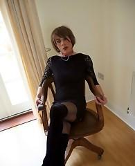 TV slut Zoe plays with cock and sucks on a dildo