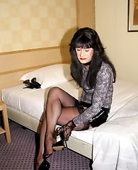 Crossdressing dominatrix Yvette getting her fill of hard cock