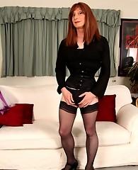 Nylon stockings look stunning when Lucimay wears them