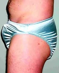 This pantie loving slut looks so good in his silky little panties