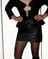 Crotchless panties and high heels always look fantastic